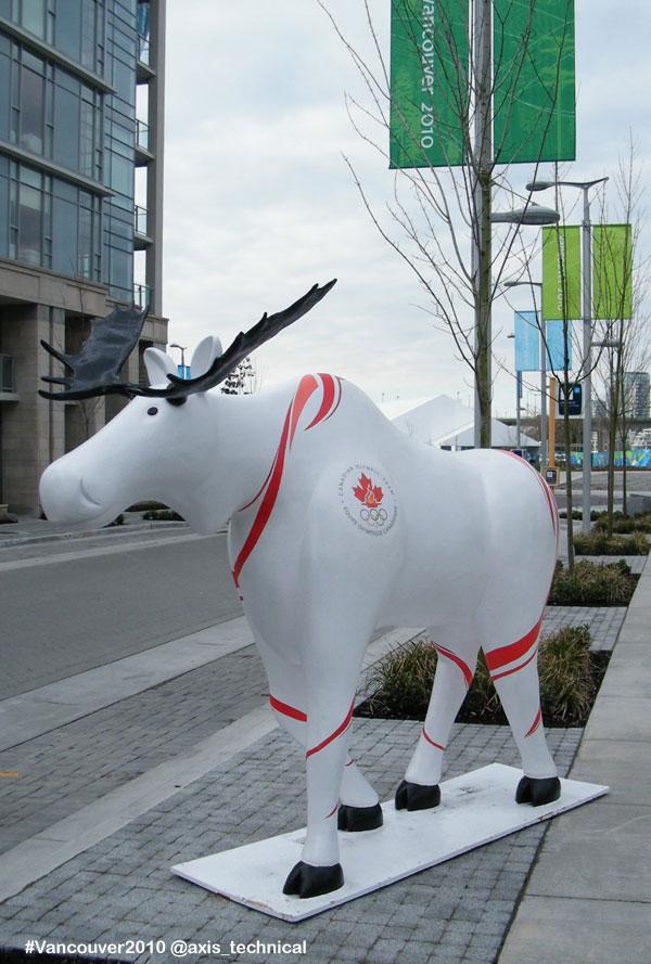 Our Great Canadian Moose in Athletes Village