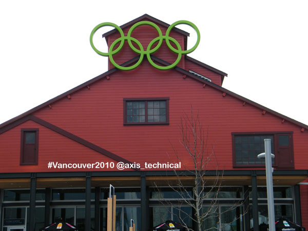 Olympic Rings at Salt Building in Athletes