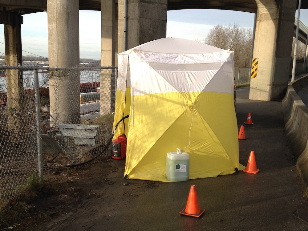 Yellow Safety Splicing Tent - HWY91a