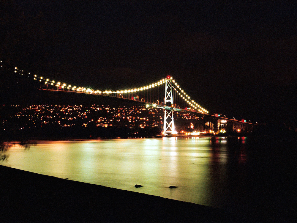 Lions Gate Bridge at Night - North Vancouver