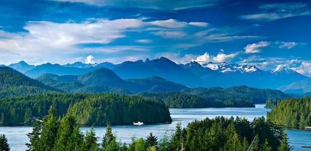 Panoramic view of Tofino, Vancouver Island, Canada