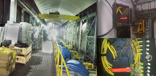 Left: Turbine Room Top & Bottom-Right: